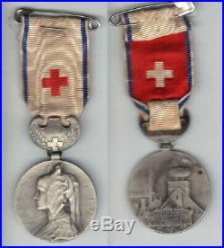 Médaille de la CROIX ROUGE FRANCAISE-UFF-Guerre 14 18 (Personnel administratif)