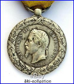Médaille de la Campagne d'Italie 1859. Napoléon III°. NUMÉROTÉE. Argent