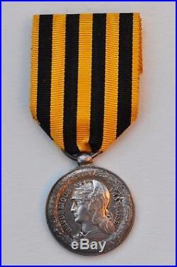 Médaille de la Campagne du Dahomey, 1892, bélière olive, parfait état