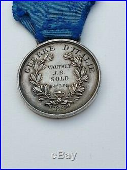 Médaille de la Valeur Militaire, Guerre d'Italie 1859, signée F. F, attribuée