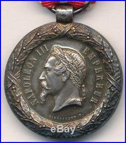 Médaille de la campagne dItalie 1859 signée SACRISTAIN. F