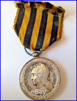 Médaille de la campagne de 1892 du Dahomey argent 21056