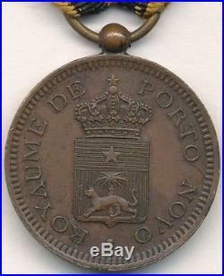 Médaille de la campagne du Dahomey 1892 de Porto-Novo