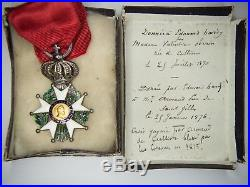 Médaille de la légion d'honneur Henri IV d'époque restauration avec attribution
