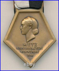 Médaille de libération de Metz 1944
