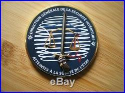 Médaille de table DGSI atteintes à la sureté de l'état (rare)
