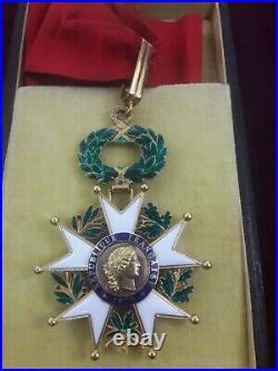Médaille décoration Croix de Commandeur Légion d'Honneur poilu succession