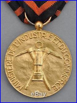 Médaille des Mines, classe or, Ministere du Commerce et de l'Industrie