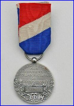 Médaille des ouvriers de l'Exposition Universelle 1900, attribuée