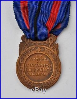 Médaille des victimes de l'invasion, 1914-1918, bronze