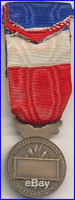 Médaille dhonneur du ministère des colonies