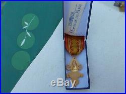 Médaille du LAOS, 1 million d'éléphants, neuve dans sa boite monnaie de PARIS