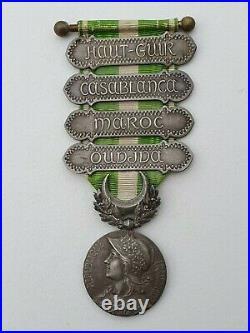 Médaille du Maroc, 4 barrettes