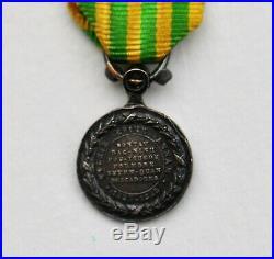 Médaille du Tonkin, réduction 11 mm, 3 diamants sur la bélière