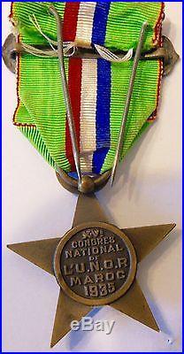 Médaille du XV ème congrès de l'UNOR MAROC 1935