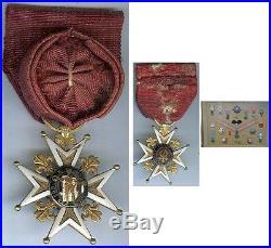 Médaille en variantes Saint Louis en Or 15 grammes brut officier poinçon aigle