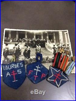 Medaille ffi résistance ww2 maquis libération Lourdes F T P A S