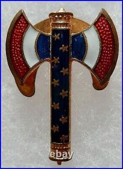 Médaille insigne de l'Ordre de la Francisque 1940 authentique décoration Augis