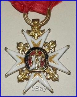 Medaille militaire Ordre de Saint-Louis époque louis XV french order medal