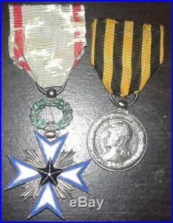 Medaille militaire campagne du Dahomey et etoile noire du Benin