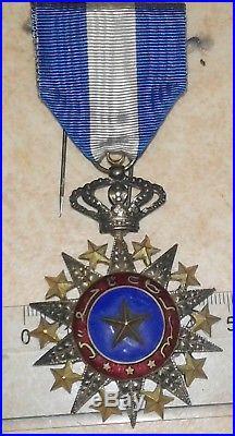 Medaille militaire ordre du Nicham Nichan El Anouar colonial medal order