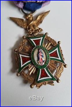 Médaille officier de l'Ordre de Notre Dame de Guadalupe, Napoléon III