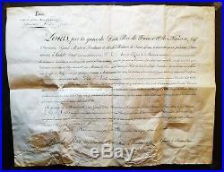 Medaille ordre de Saint Louis lettre Diplôme