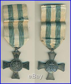 Médaille ou Croix du Mentana Etat du Vatican en argent bombé