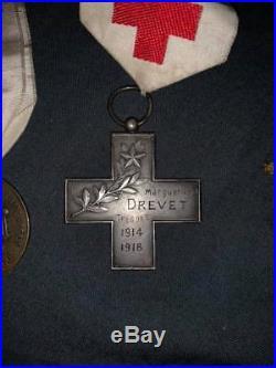 Médailles Association Dames française croix rouge attribuées infirmière 14/18