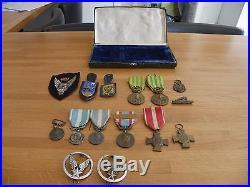 Médailles Militaires Anciennes + Insignes + Pucelles