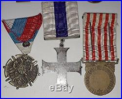 Medailles militaires d'un lieutenant 1914-1918 military cross, la paz maroc