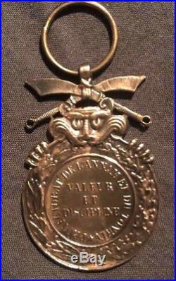 Mérite des Militaires et Gardes Civils Indigènes Annam Indochine bronze ébauche