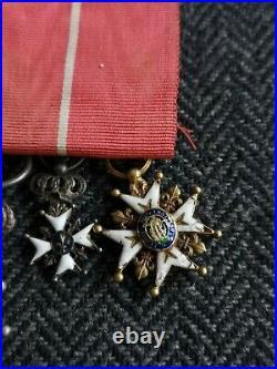 Miniature Ordre De Saint Louis Légion D'honneur Et Fleur De Lys Médaille France