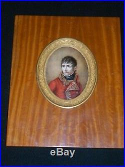 Miniature par Louis François Aubry (1767-1851) Napoléon 1er Consul circa 1800