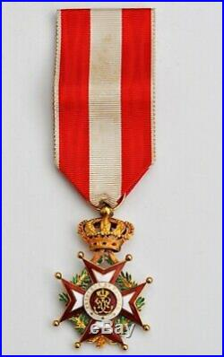 Monaco Ordre de Saint Charles, chevalier en or et émail, dans son écrin
