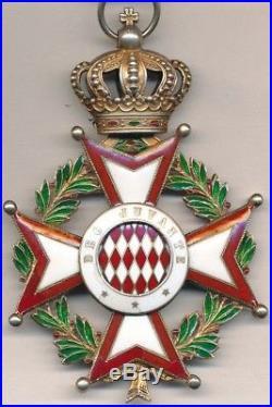 Monaco Ordre de Saint Charles, croix de commandeur