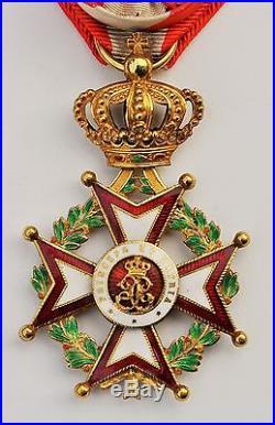 Monaco Ordre de Saint Charles, officier en or et émail