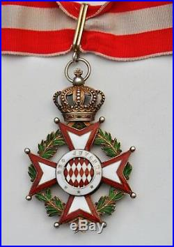 Monaco Ordre de St. Charles, commandeur en vermeil et émail