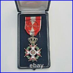 Monaco Ordre de St Charles, officier en vermeil, dans son écrin