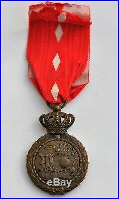 Monaco Ordre des Arts et des Lettres, chevalier en bronze, dans sa boite