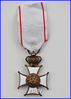 Monaco Ordre des Grimaldis, croix ce chevalier en vermeil
