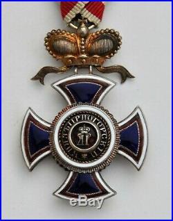 Montenegro Ordre de Danilo, chevalier en argent et vermeil