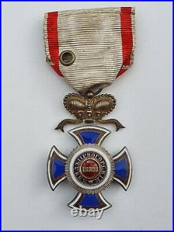 Montenegro Ordre de Danilo, officier en vermeil et émail, petit éclat