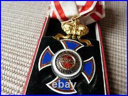 Montenegro Superbe Ordre du Prince Danilo Commandeur avec son écrin bijoutier