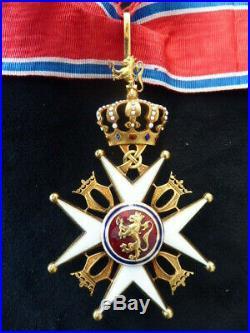 Norvege Ordre de Saint Olaf Commandeur en Or