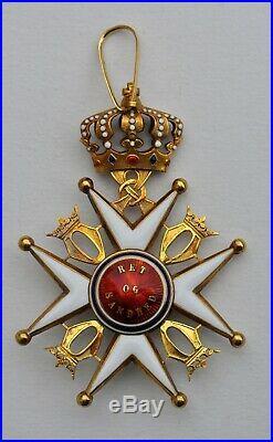 Norvège, ordre de St Olaf, commandeur en or