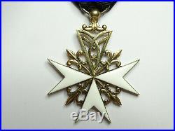 ORDRE DE MALTE, Croix de Donat et Dévotion de 3e clase en vermeil