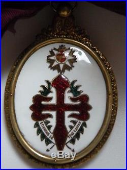 ORDRE DE SAINT-JACQUES de l'ÉPÉE, GRAND CROIX, PORTUGAL EN VERMEIL, XIXème