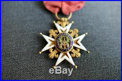 ORDRE DE SAINT LOUIS XVI Croix de Chevalier EN OR POINÇON TÊTE DE COQ