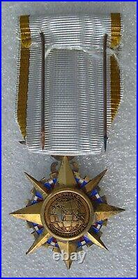 ORDRE DU MERITE COMMERCIAL medaille chevalier vermeil poinçon tête de sanglier